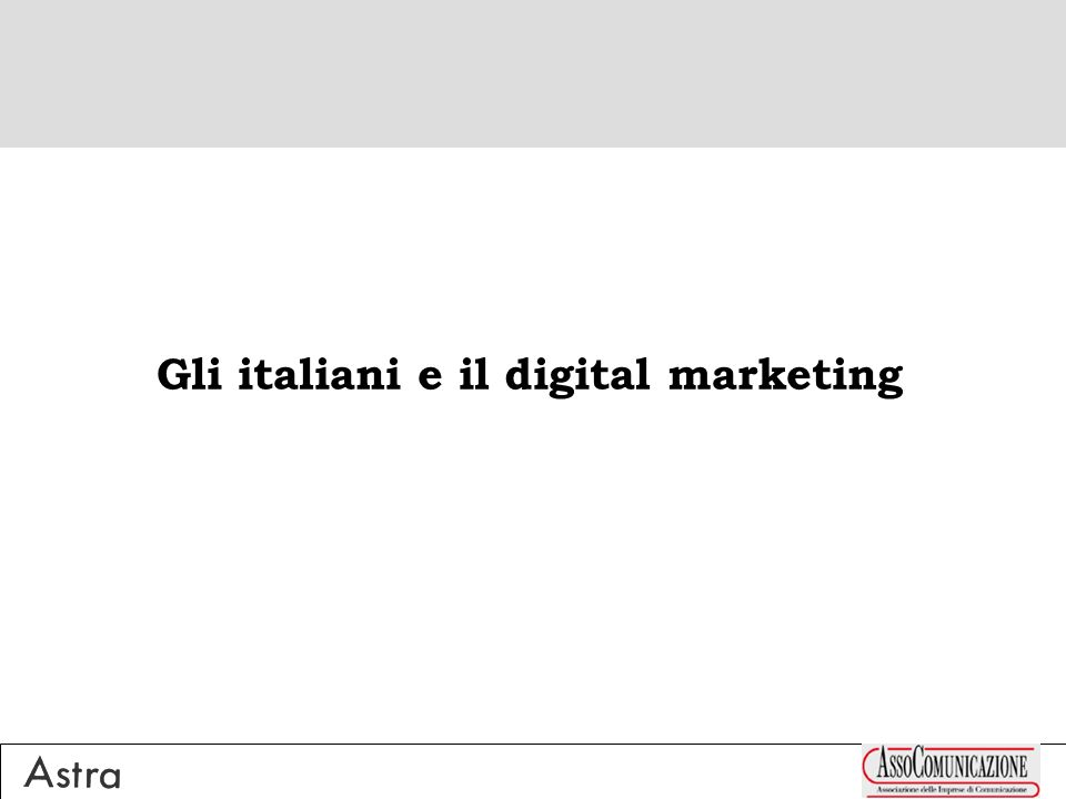 Gli italiani e il digital marketing