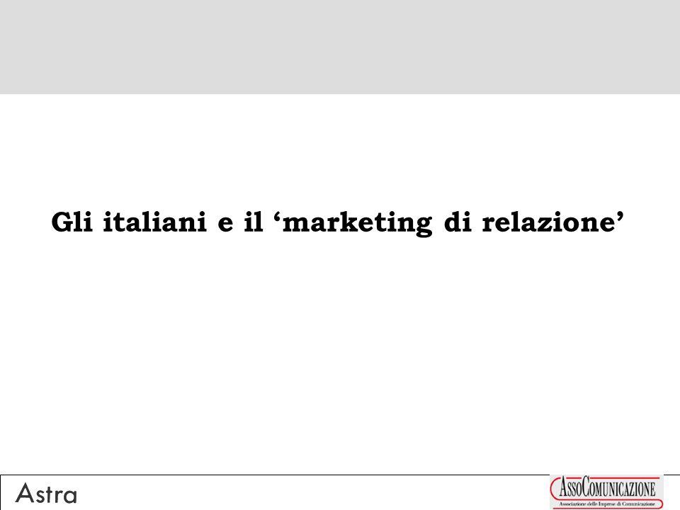 Gli italiani e il marketing di relazione
