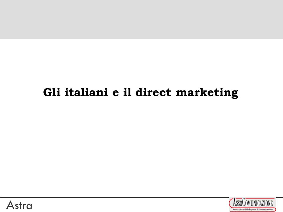 Gli italiani e il direct marketing