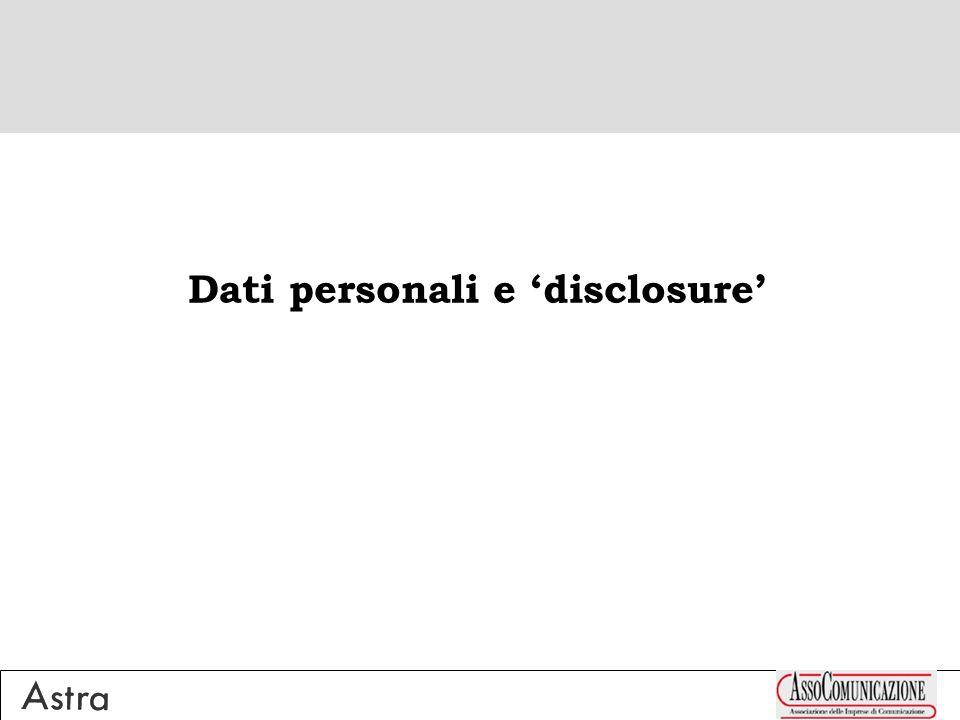Dati personali e disclosure
