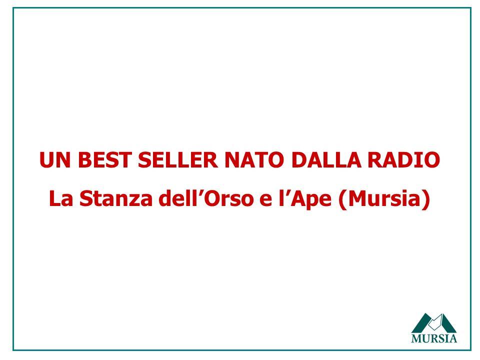UN BEST SELLER NATO DALLA RADIO La Stanza dellOrso e lApe (Mursia)