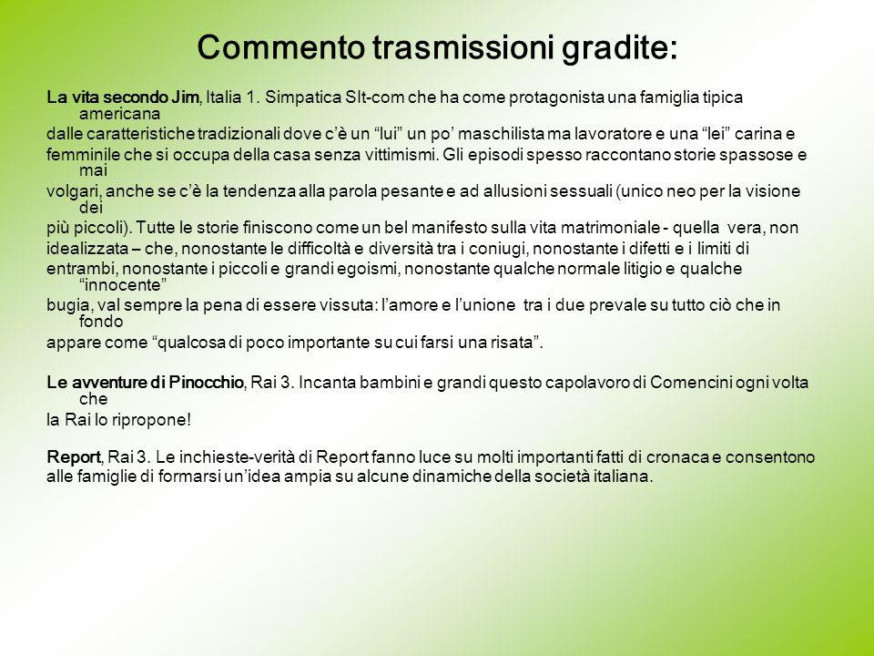 Commento trasmissioni gradite: La vita secondo Jim, Italia 1.