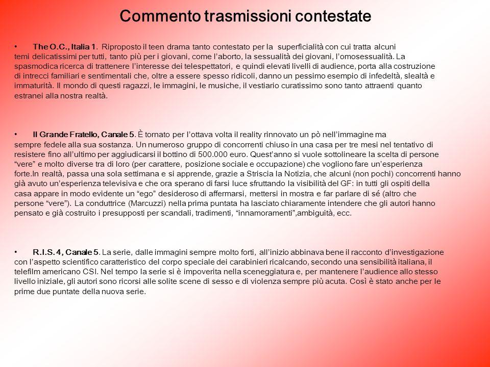 Commento trasmissioni contestate The O.C., Italia 1.