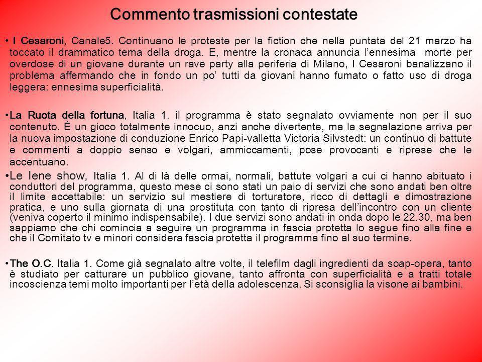 Commento trasmissioni contestate I Cesaroni, Canale5. Continuano le proteste per la fiction che nella puntata del 21 marzo ha toccato il drammatico te