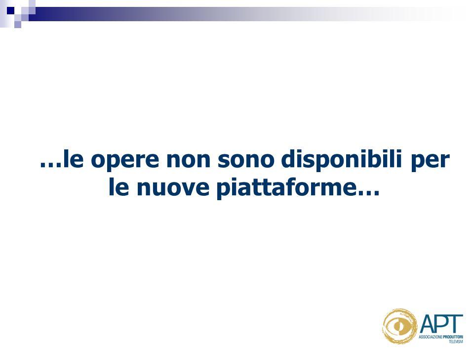 …le opere non sono disponibili per le nuove piattaforme…