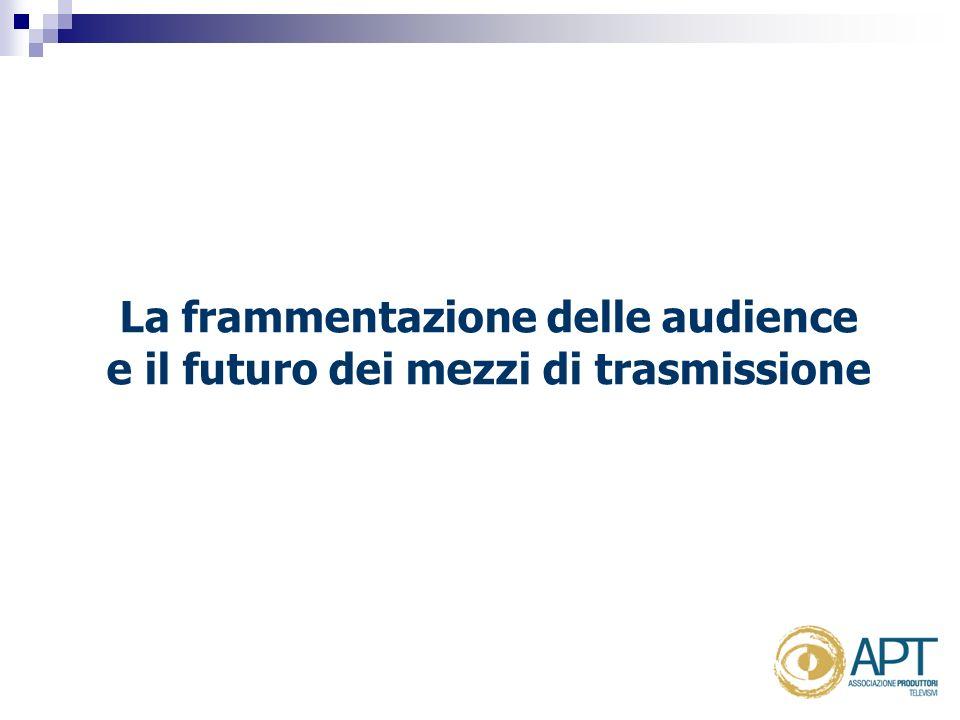 La frammentazione delle audience e il futuro dei mezzi di trasmissione