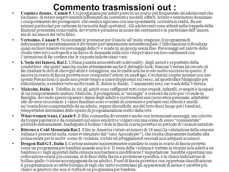 Commento trasmissioni in: Finalmente Natale, Canale 5.
