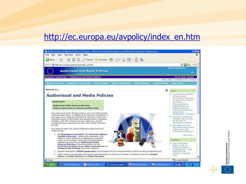 http://ec.europa.eu/avpolicy/index_en.htm