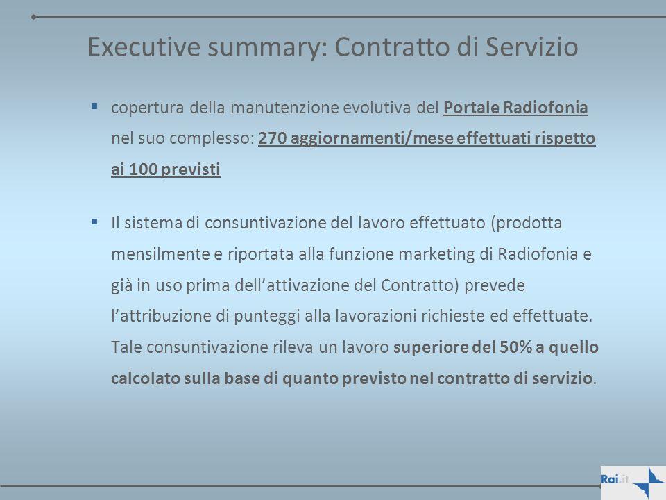 PREMESSA Il presente documento riassume lo stato dellarte al 31 ottobre 2007 dello svolgimento delle attività previste dal CONTRATTO DI SERVIZIO RAI- RAINET 2005-2007 da parte di Rainet.