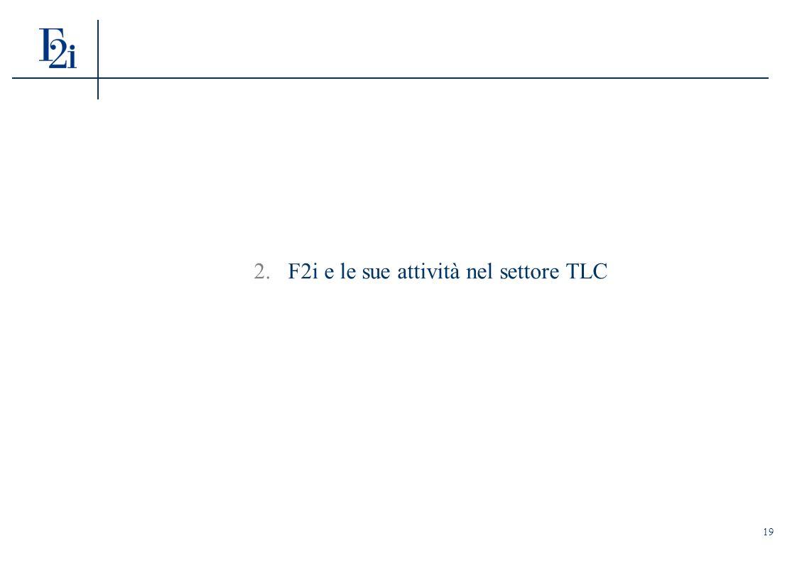 19 2.F2i e le sue attività nel settore TLC
