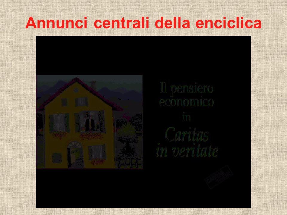 Annunci centrali della enciclica