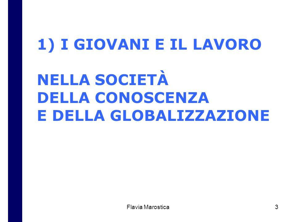 Flavia Marostica3 1) I GIOVANI E IL LAVORO NELLA SOCIETÀ DELLA CONOSCENZA E DELLA GLOBALIZZAZIONE
