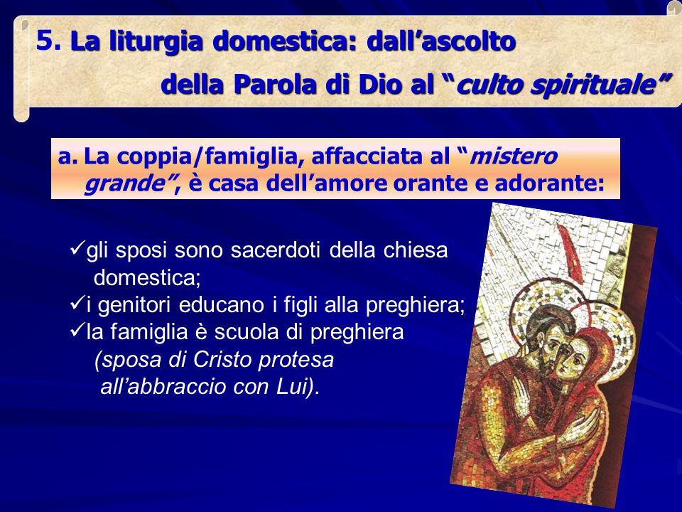 La liturgia domestica: dallascolto 5.