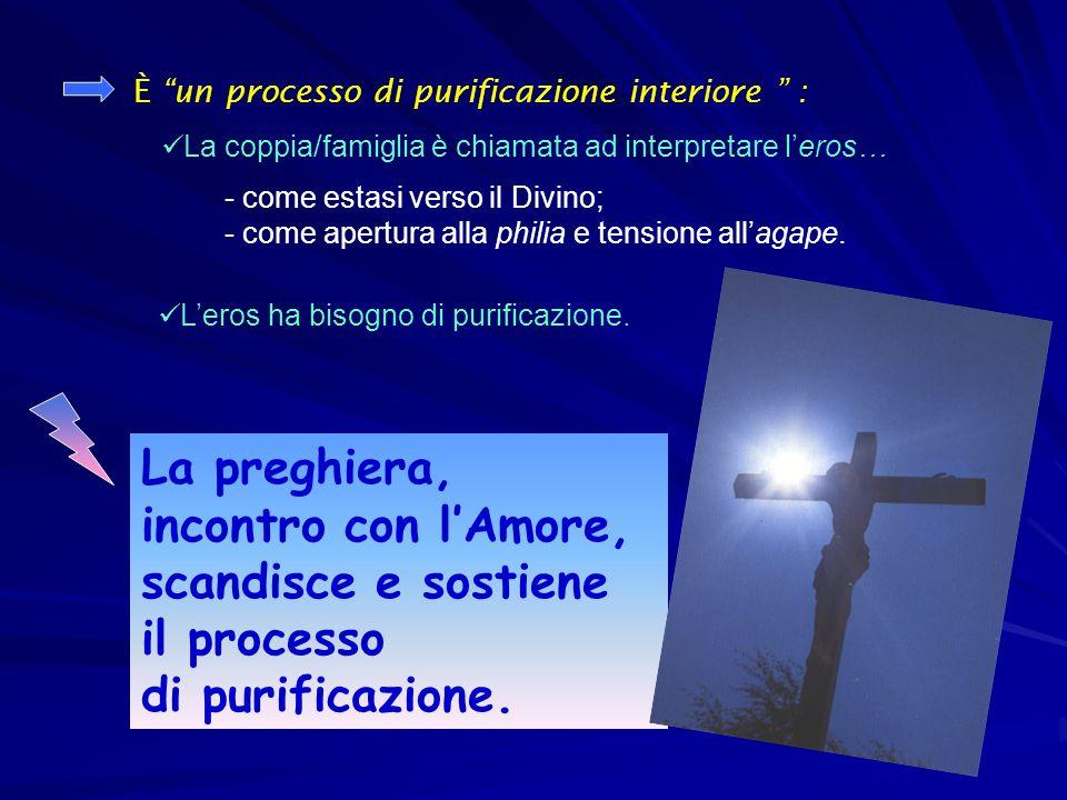 La preghiera, incontro con lAmore, scandisce e sostiene il processo di purificazione.