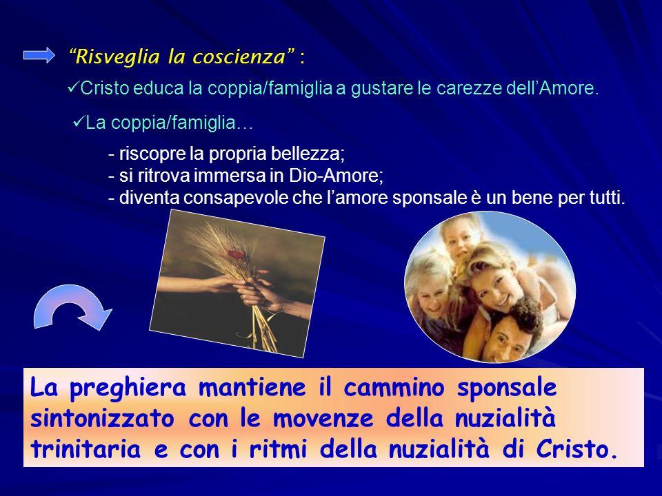 Risveglia la coscienza : Cristo educa la coppia/famiglia a gustare le carezze dellAmore.