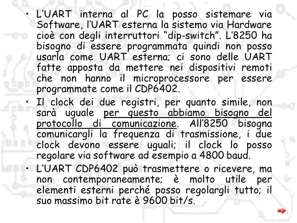 Comunicazione tra due UART: