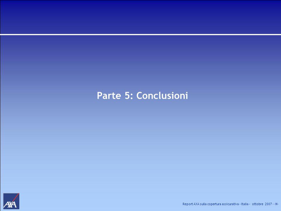 Report AXA sulla copertura assicurativa – Italia – ottobre 2007 - N Parte 5: Conclusioni