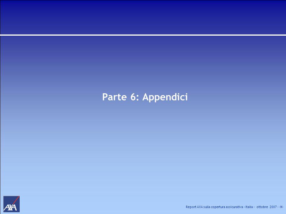 Report AXA sulla copertura assicurativa – Italia – ottobre 2007 - N Parte 6: Appendici