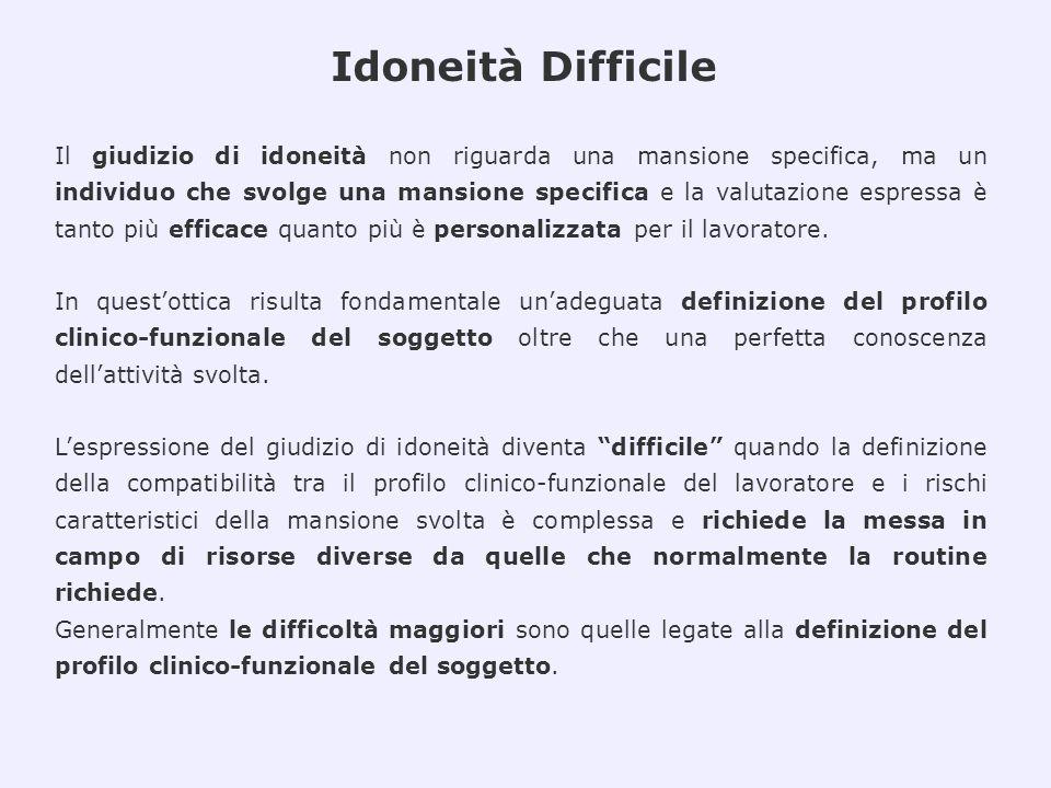 I Casi Valutati Casistica valutata presso la UOOML di Varese dal settembre 2008 al settembre 2010, suddivisa per tipo di patologie e Medico Committente: Medico di Medicina Generale (MMG) e Medico Competente (MC)