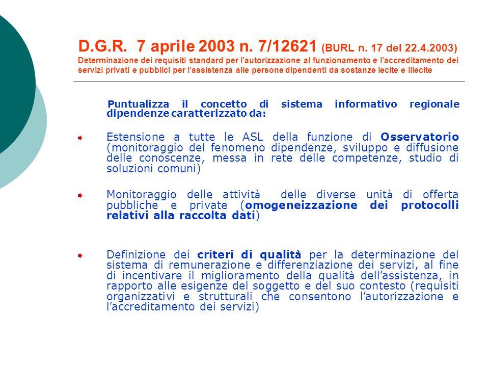 D.G.R.7 aprile 2003 n. 7/12621 (BURL n.
