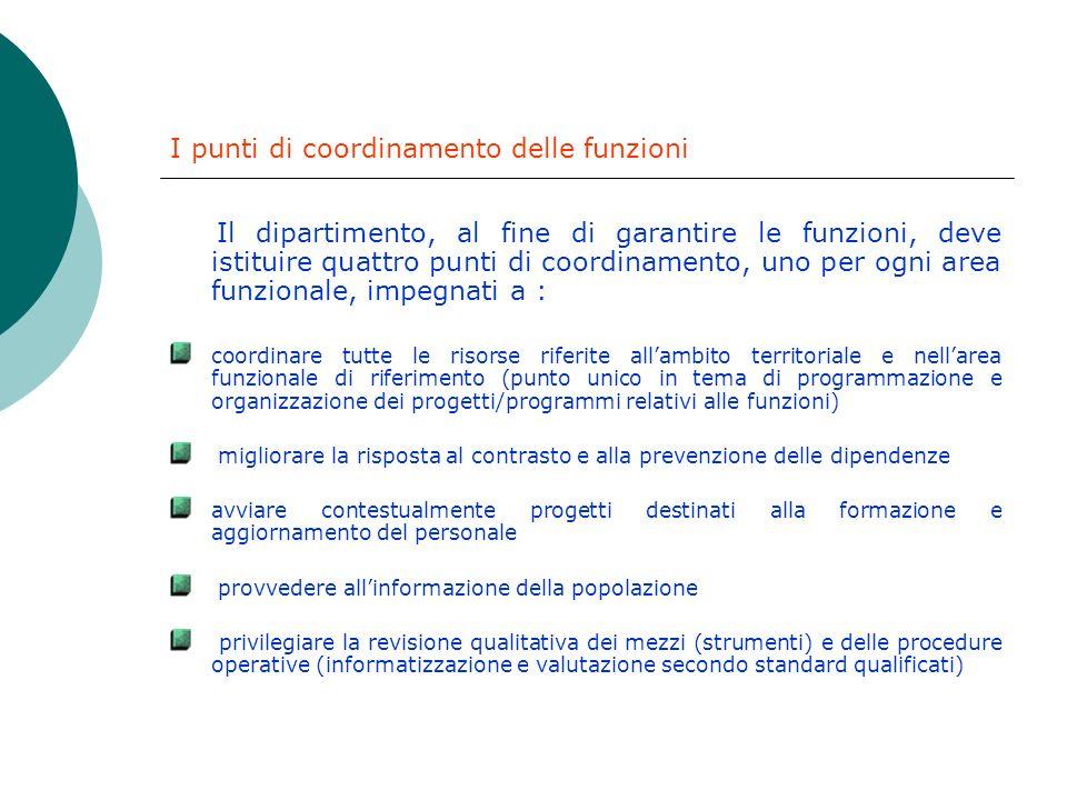 La programmazione delle aree funzionali : requisiti I programmi delle diverse aree e lorganizzazione delle funzioni devono rispondere ai seguenti requ