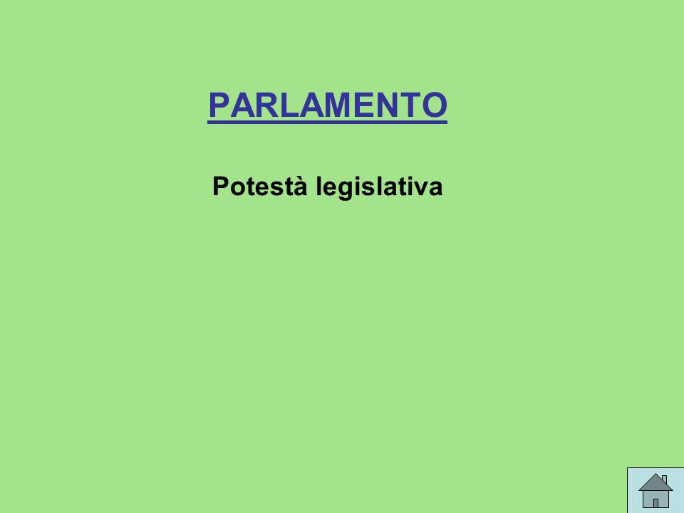 PARLAMENTO Potestà legislativa