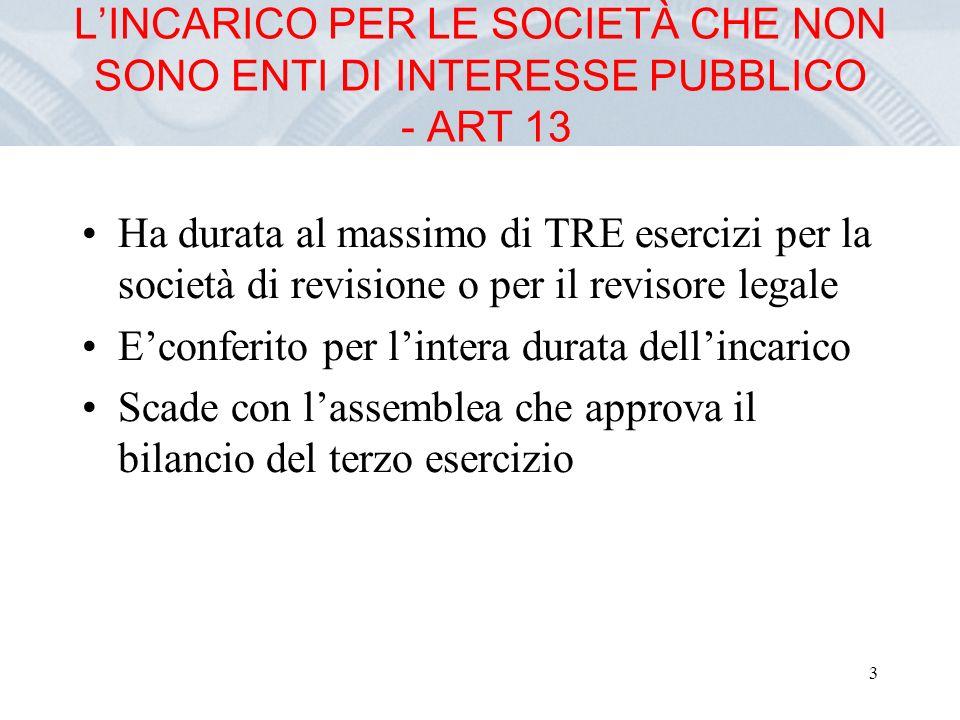 4 REVOCA E DIMISSIONI DALLINCARICO - ART.13 D.