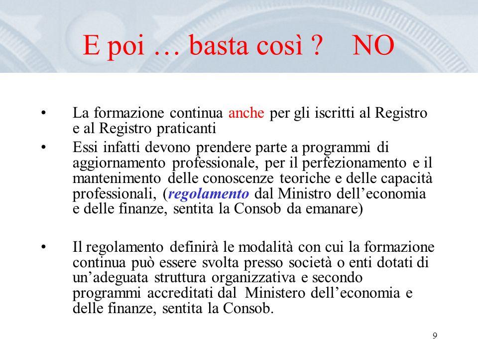 10 Registro dei revisori attivi I soggetti iscritti nel Registro comunicano al soggetto incaricato della tenuta del Registro gli incarichi di revisione legale assunti.