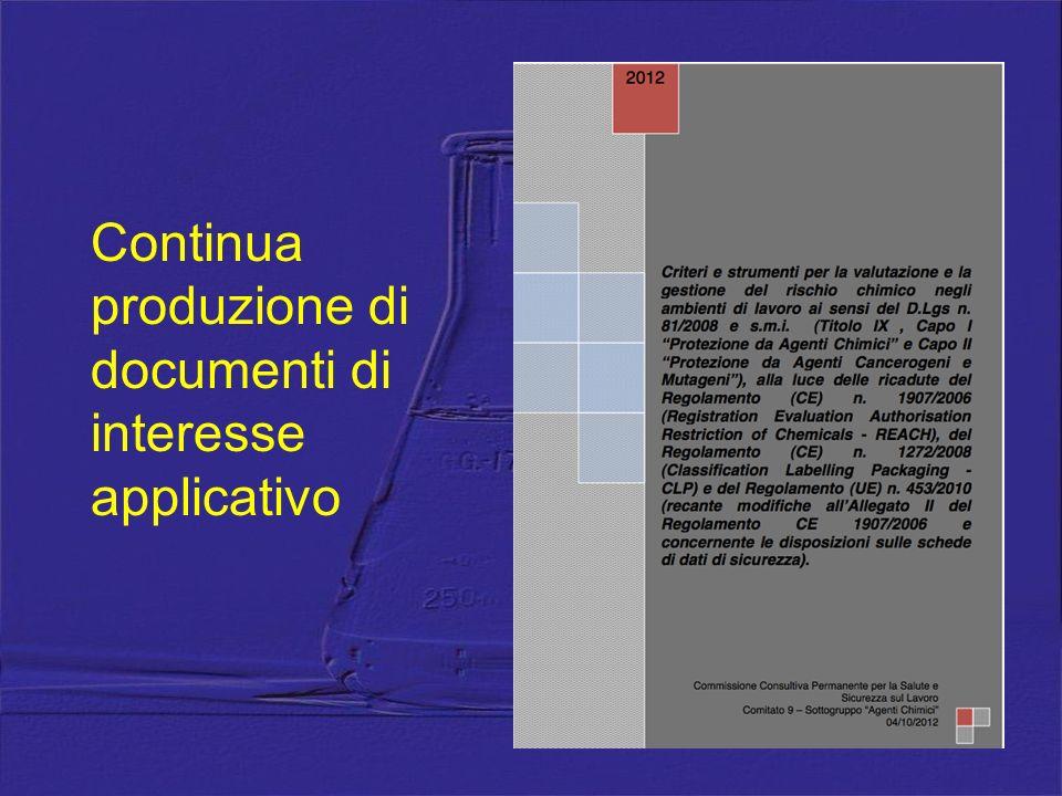 Continua produzione di documenti di interesse applicativo