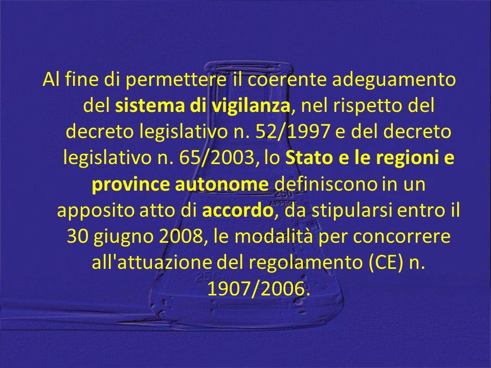 Al fine di permettere il coerente adeguamento del sistema di vigilanza, nel rispetto del decreto legislativo n. 52/1997 e del decreto legislativo n. 6