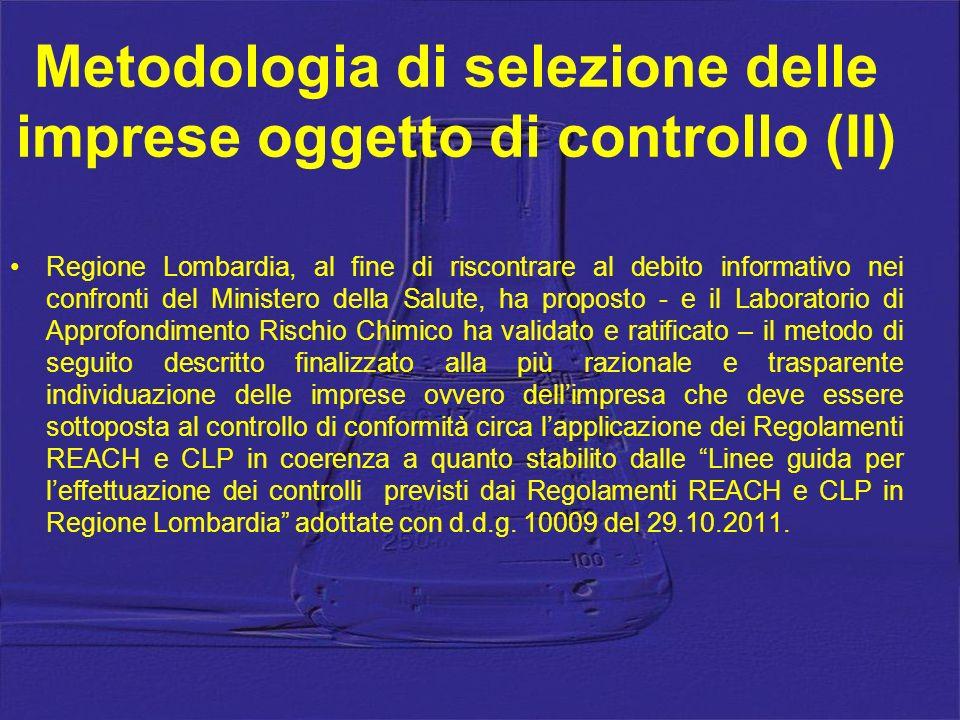 Regione Lombardia, al fine di riscontrare al debito informativo nei confronti del Ministero della Salute, ha proposto - e il Laboratorio di Approfondi