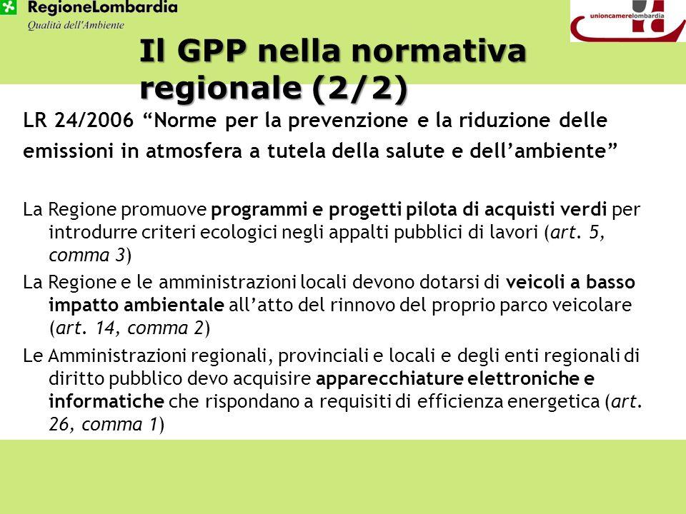 LR 24/2006 Norme per la prevenzione e la riduzione delle emissioni in atmosfera a tutela della salute e dellambiente La Regione promuove programmi e p