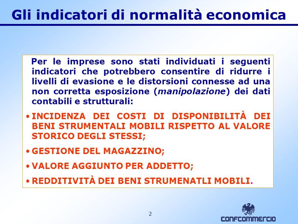 1 Gli indicatori di normalità economica Il contribuente che applicherà gli studi di settore per il periodo dimposta 2006 dovrà confrontare i propri ricavi dichiarati con quelli risultanti dallapplicazione dellanalisi della congruità e della nuova analisi di normalità economica.