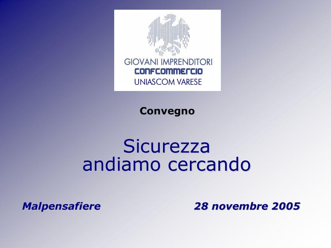 Sicurezza andiamo cercando Malpensafiere 28 novembre 2005 Convegno