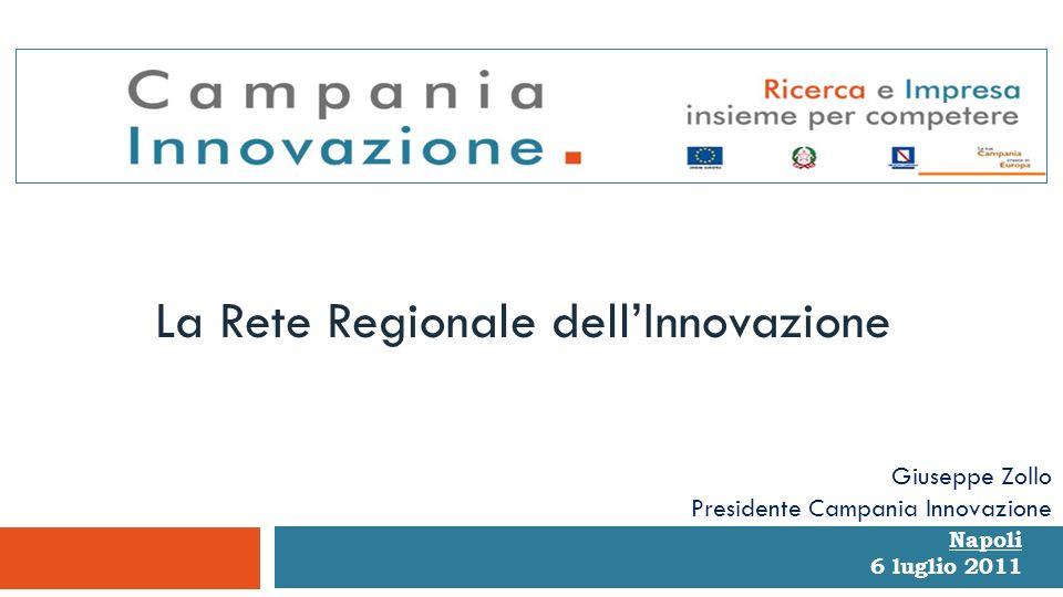 Napoli 6 luglio 2011 La Rete Regionale dellInnovazione Giuseppe Zollo Presidente Campania Innovazione