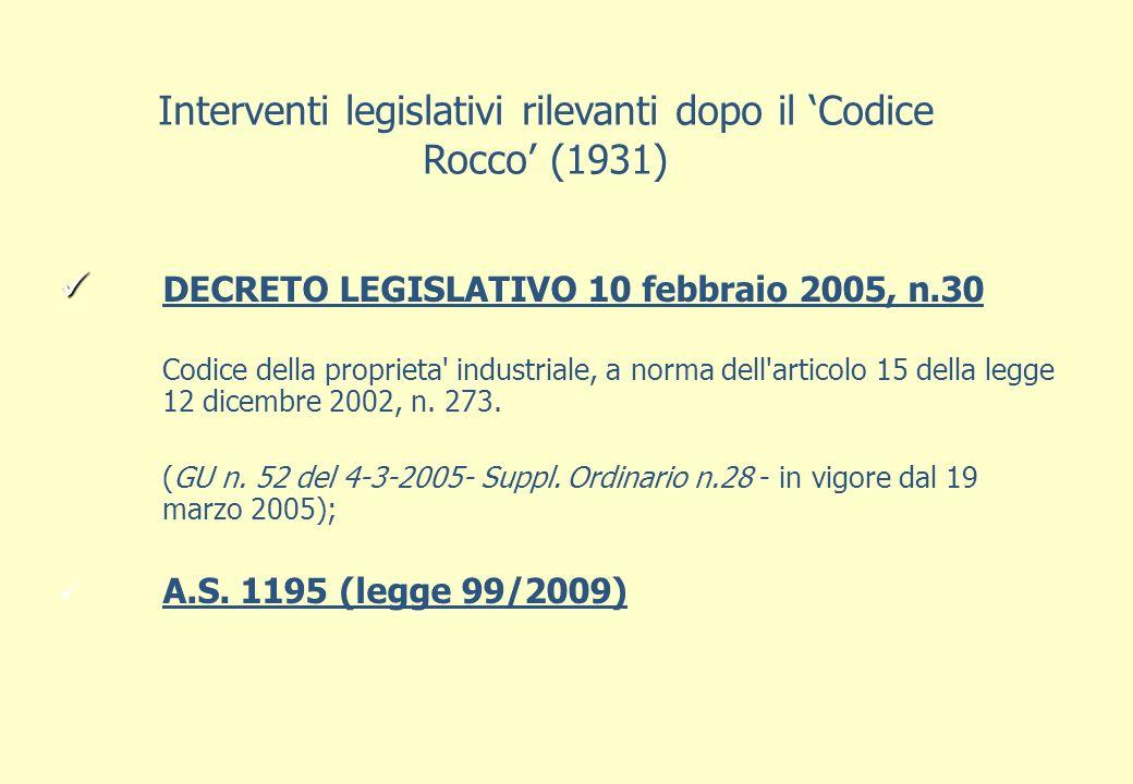DECRETO LEGISLATIVO 10 febbraio 2005, n.30 Codice della proprieta industriale, a norma dell articolo 15 della legge 12 dicembre 2002, n.