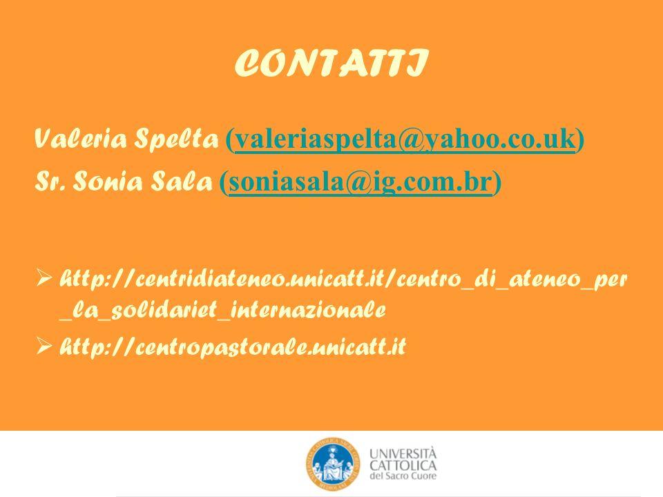 CONTATTI Valeria Spelta (valeriaspelta@yahoo.co.uk)valeriaspelta@yahoo.co.uk Sr.