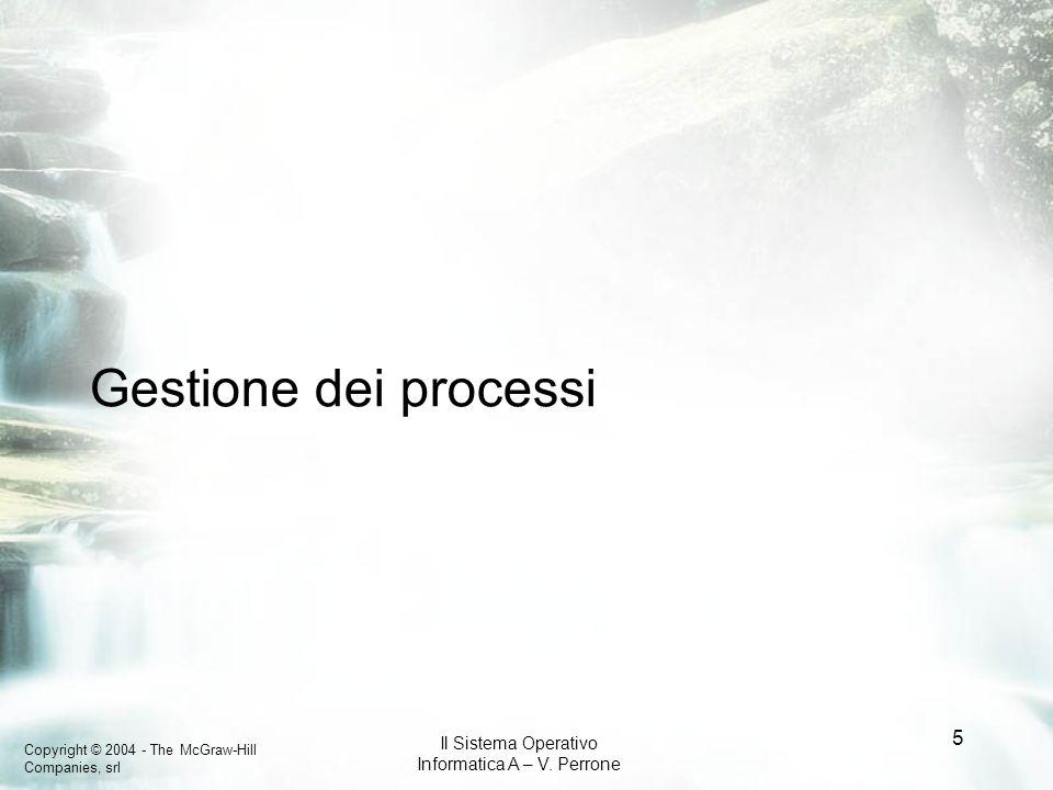Copyright © 2004 - The McGraw-Hill Companies, srl Il Sistema Operativo Informatica A – V. Perrone 5 Gestione dei processi