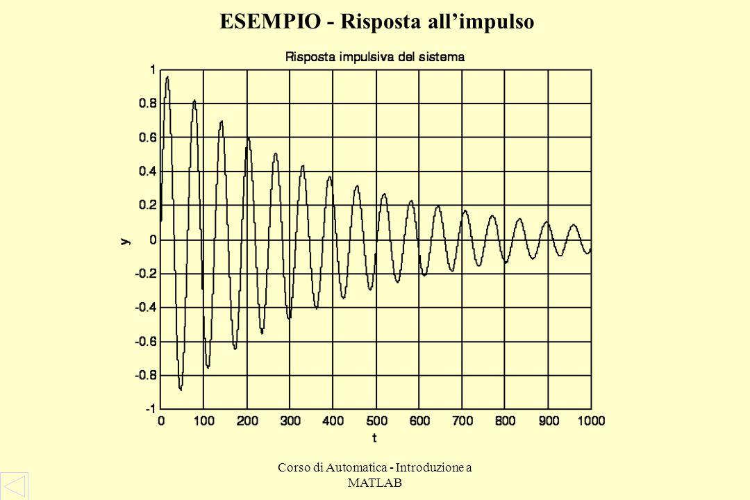 Corso di Automatica - Introduzione a MATLAB ESEMPIO - Diagramma di Nyquist