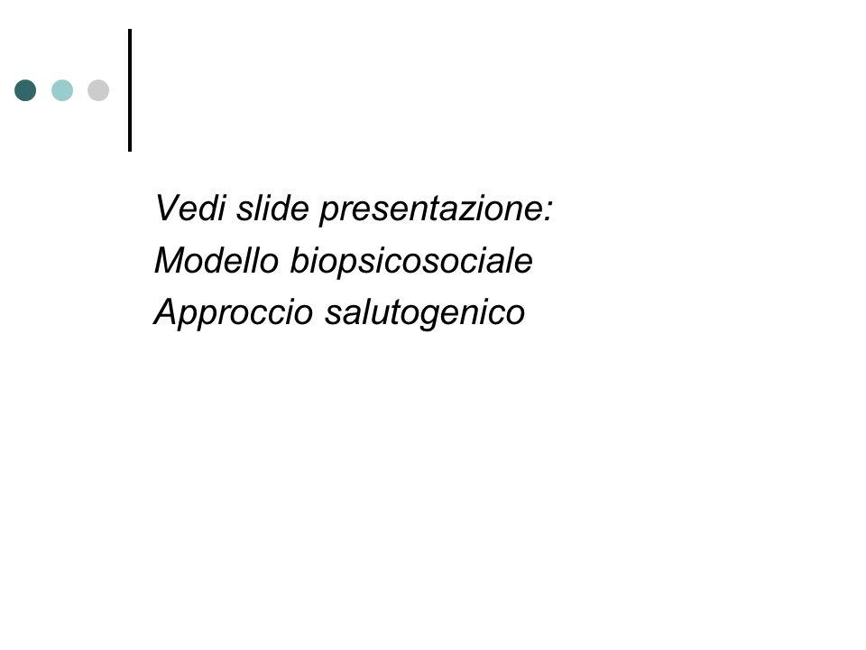 Vedi slide presentazione: Modello biopsicosociale Approccio salutogenico