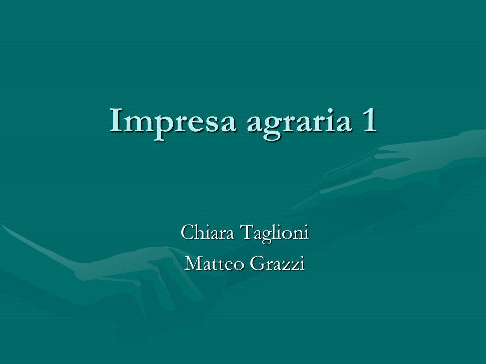 Impresa agraria 1 Chiara Taglioni Matteo Grazzi