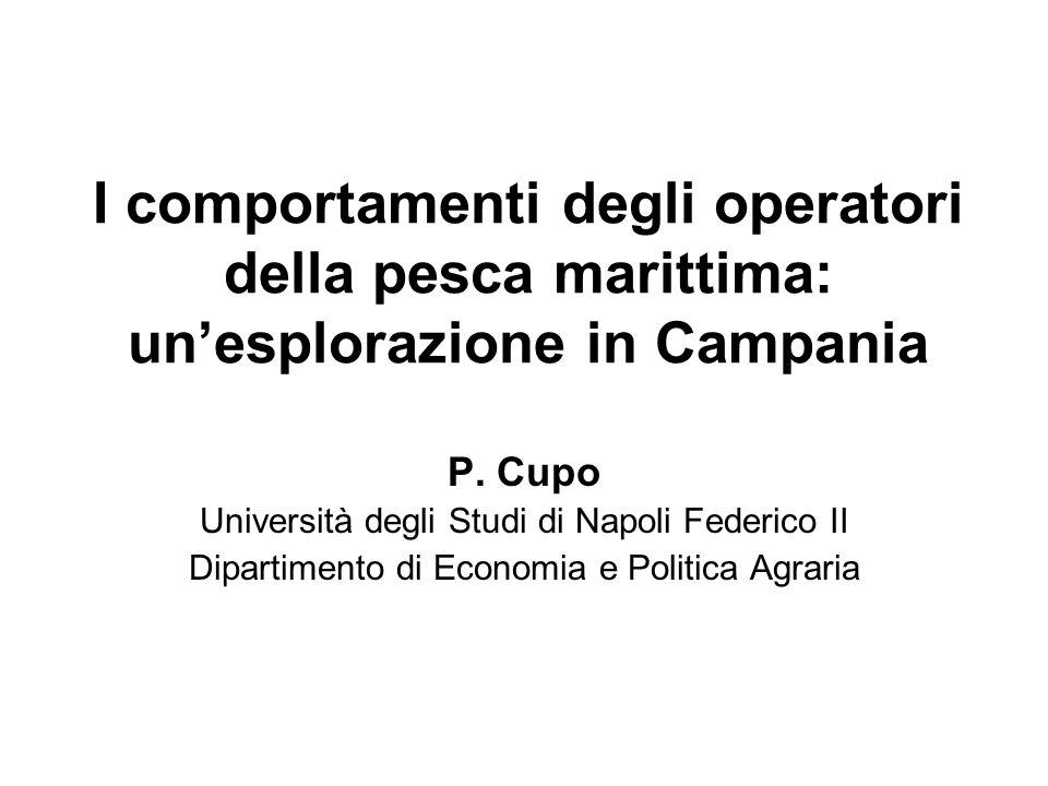I comportamenti degli operatori della pesca marittima: unesplorazione in Campania P.