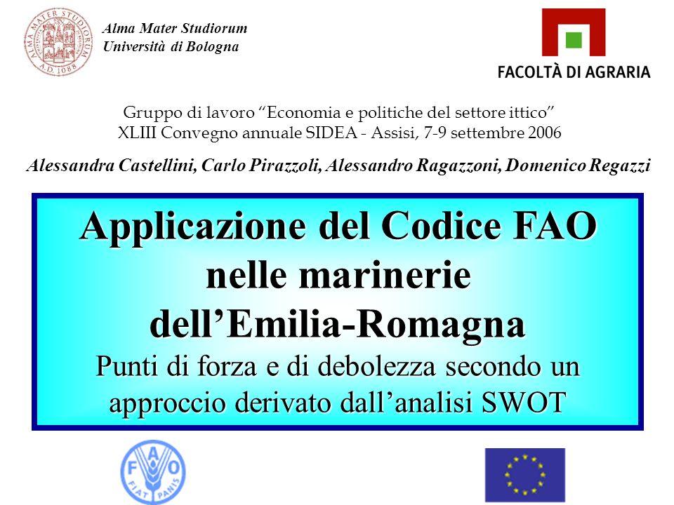 Gruppo di lavoro Economia e politiche del settore ittico XLIII Convegno annuale SIDEA - Assisi, 7-9 settembre 2006 Alessandra Castellini, Carlo Pirazz