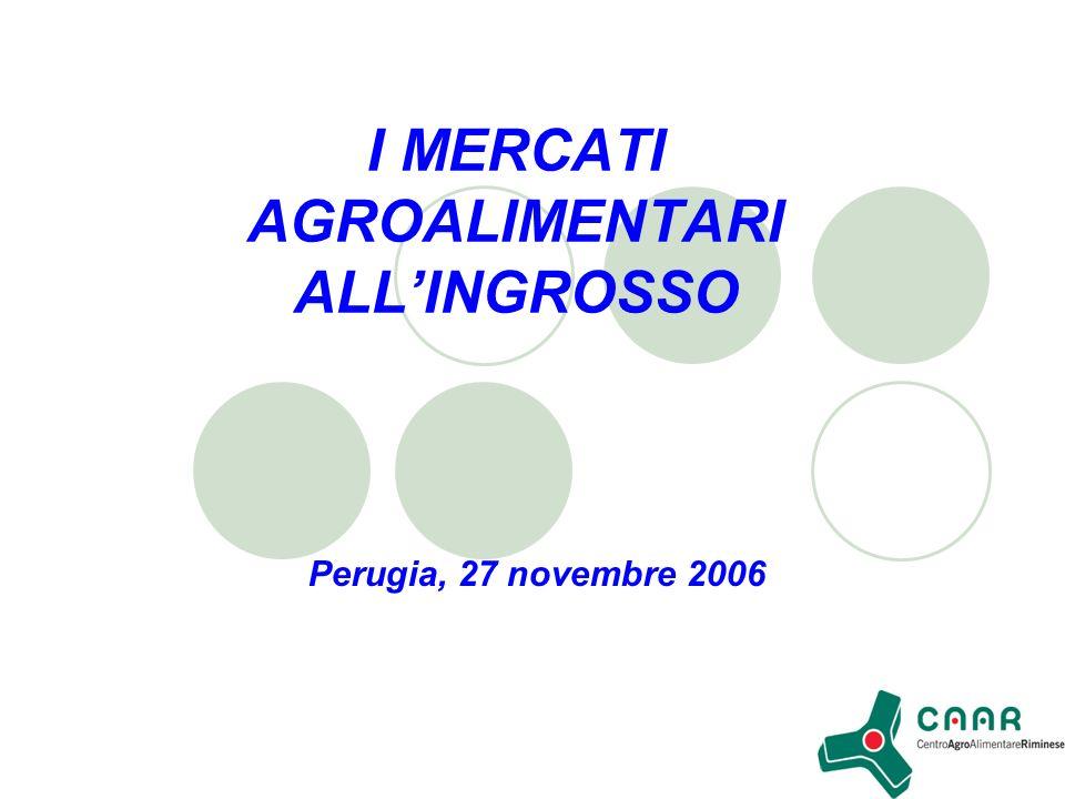I MERCATI AGROALIMENTARI ALLINGROSSO Perugia, 27 novembre 2006