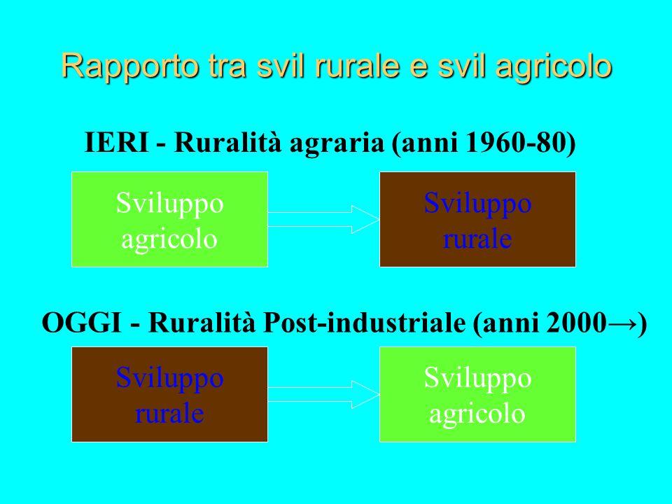 SVILUPPO RURALE 2007-2013 Per lo sviluppo rurale è previsto un unico strumento finanziario (non come è attualmente di garanzia e orientamento) FEASR.