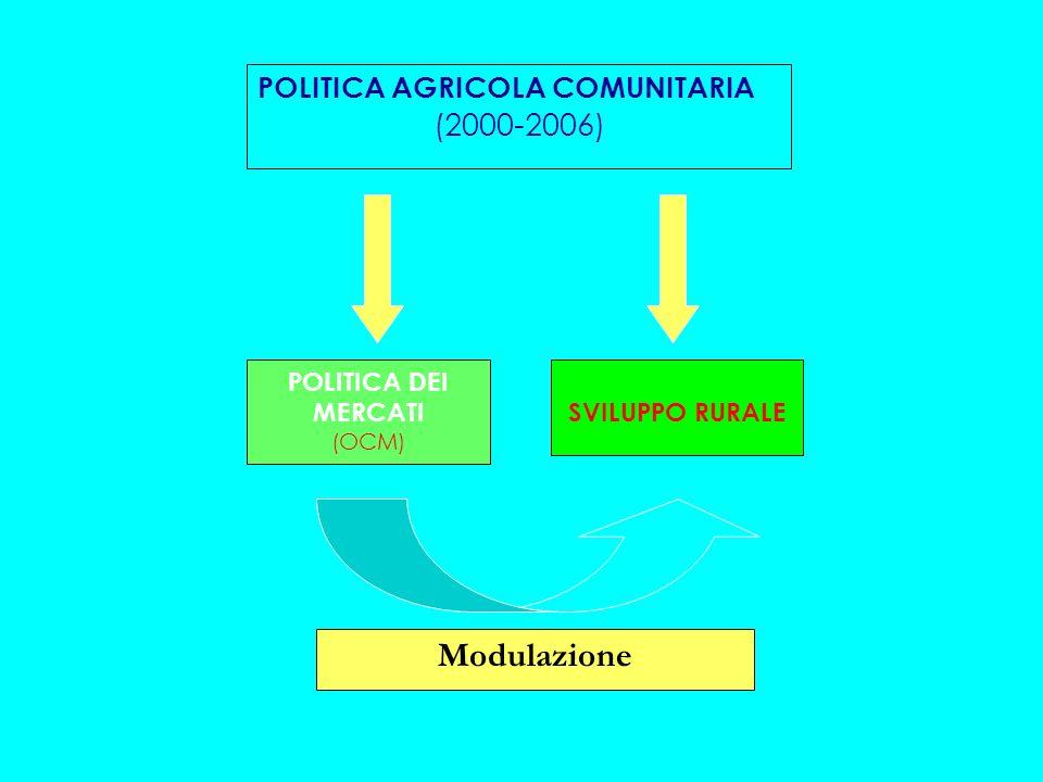 Politica di Sviluppo Rurale Le innovazioni di Agenda 2000 La politica di sviluppo rurale viene rese disponibile per tutte le aree dellUE, indipendentemente dal fatto che ricadano in un obiettivo prioritario.