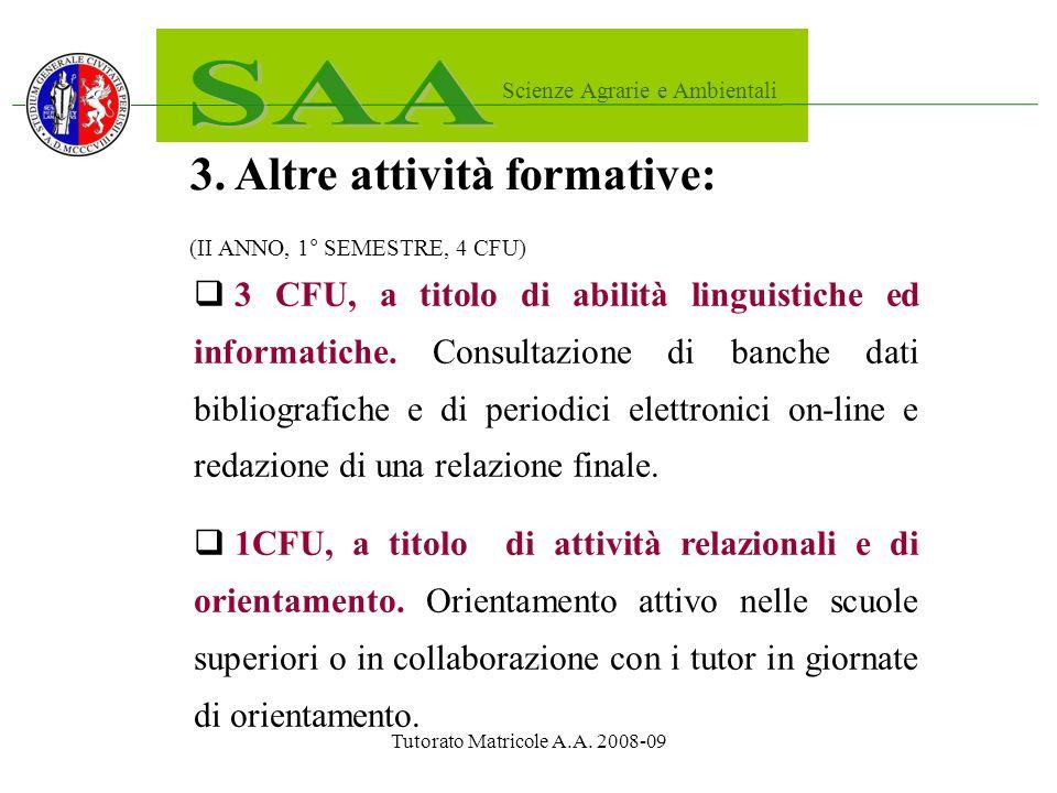 Tutorato Matricole A.A. 2008-09 3.