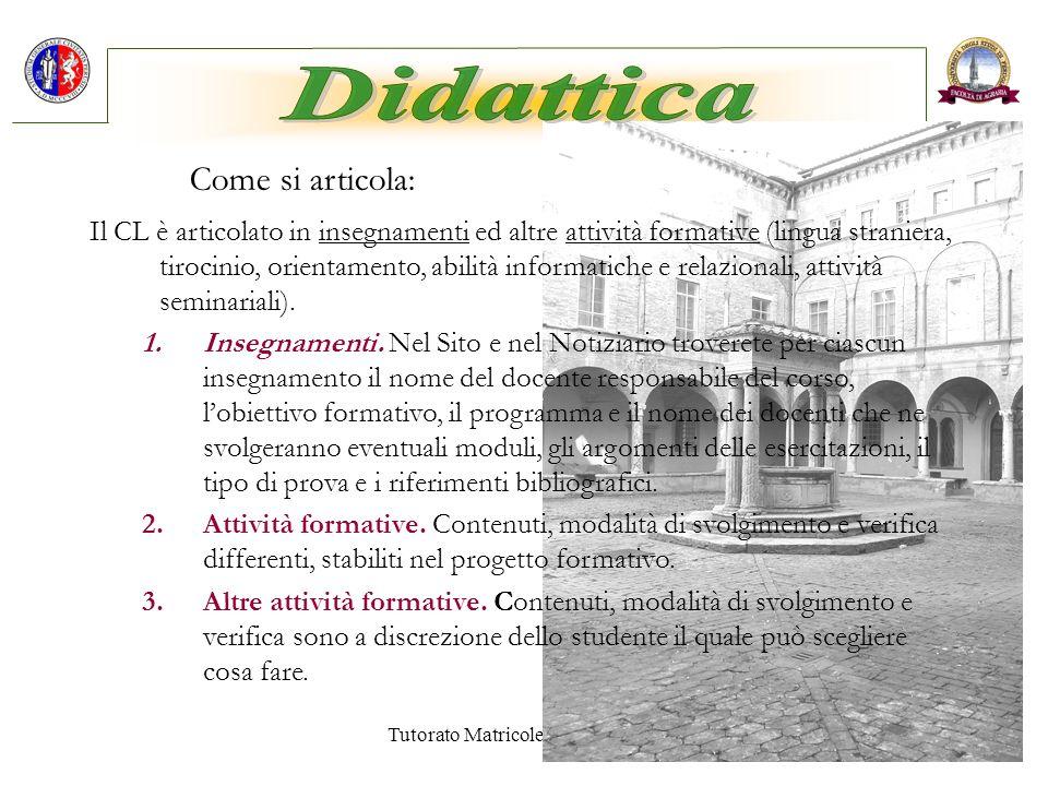 Tutorato Matricole A.A.