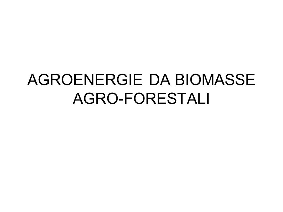 Cosè la biomassa.