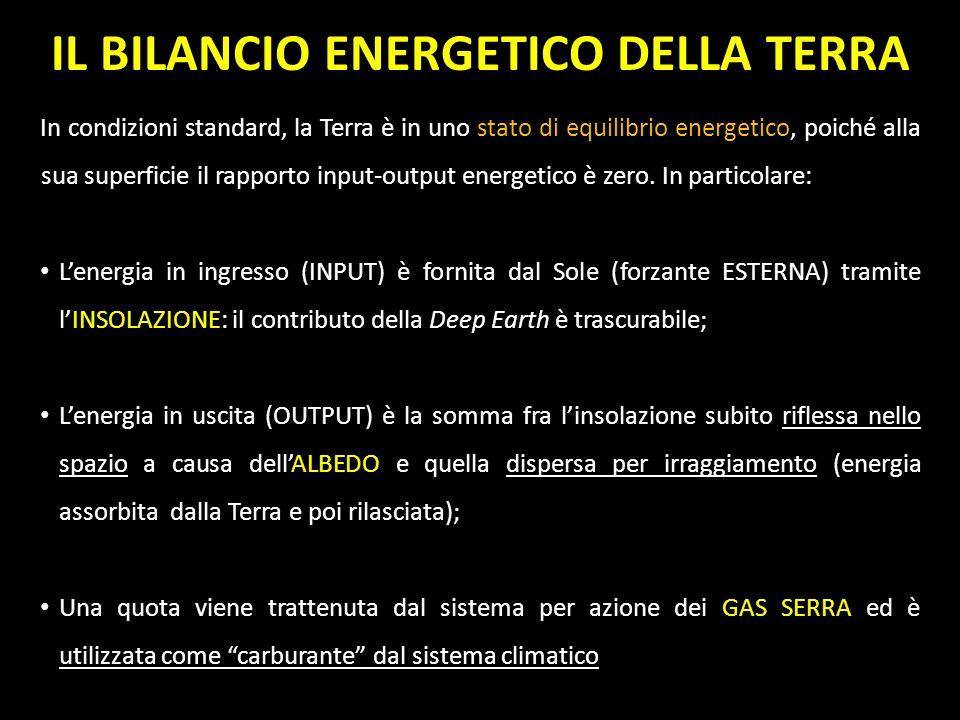 In condizioni standard, la Terra è in uno stato di equilibrio energetico, poiché alla sua superficie il rapporto input-output energetico è zero. In pa